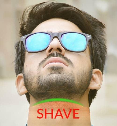 beard neck shaving
