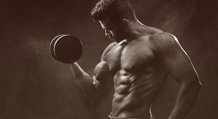 muscular upper body